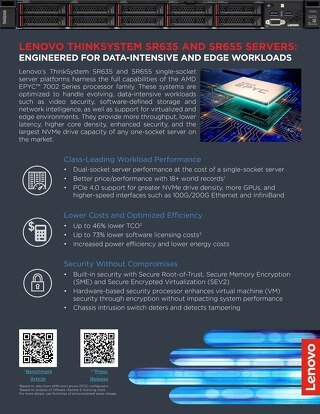 ThinkSystem SR635 and SR655: Engineered for data-intensive and Edge workloads