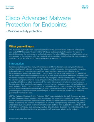 Cisco Advanced Malware Protection for Endpoints White Paper