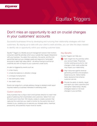 Equifax Triggers