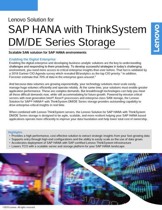 Lenovo Solution for SAP HANA with ThinkSystem DM/DE Series Storage