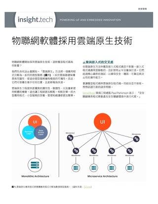 物聯網軟體採用雲端原生技術