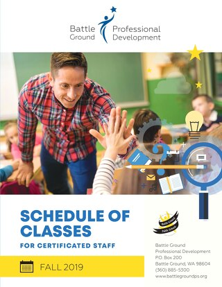 2019 Schedule of Classes for Certificated Staff