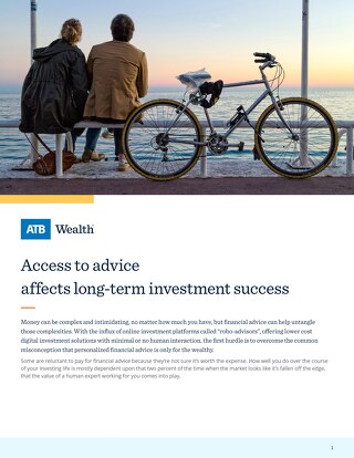 Access to advice affects long-term investment success