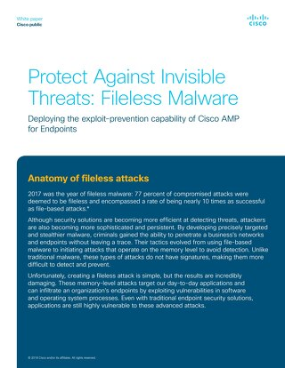 Protect Against Invisible Threats: Fileless Malware
