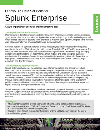 Lenovo Big Data Solutions for Splunk Enterprise