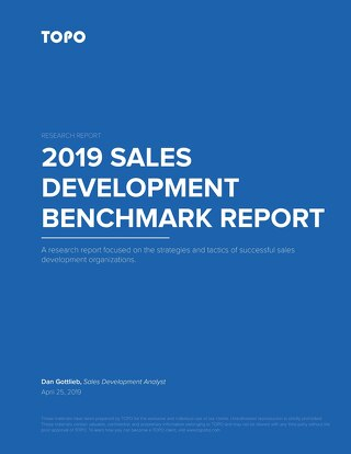 TOPO 2019 Sales Development Benchmark Report