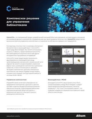 Altium Concord Pro Комплексное решение для управления библиотеками