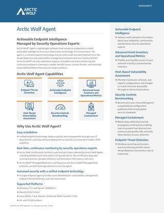 Arctic Wolf Agent