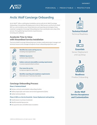Arctic Wolf SOC-as-a-Service Concierge Onboarding