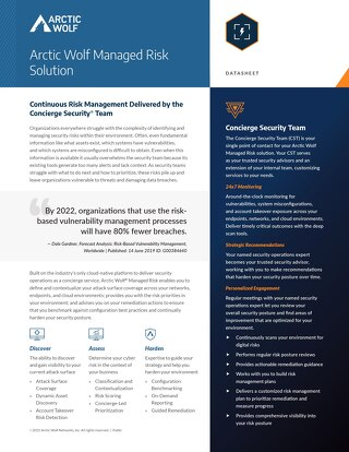 Arctic Wolf Managed Risk Solution