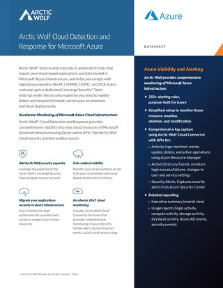 Arctic Wolf SOC-as-a-Service Monitoring for Microsoft Azure