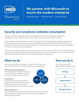 We partner with Microsoft to secure the modern enterprise