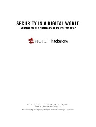Pictet Group: Bounties for Bug Hunters Make the Internet Safer
