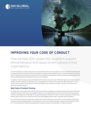Code of Conduct: Building an Organizational Code