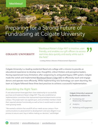 Success Story: Colgate University