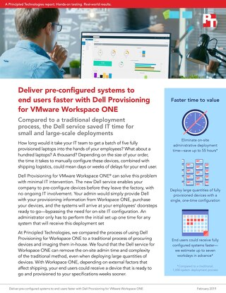 Principled Technologies Report: Dell Provisioning for Workspace ONE