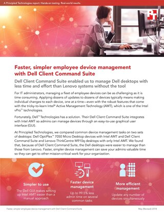 Principled Technologies Report: Faster, simpler employee device management with Dell Client Command Suite