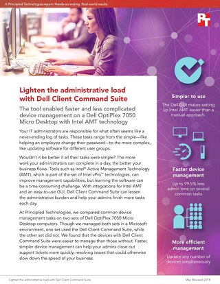 Principled Technologies Report: Lighten the administrative load with Dell Client Command Suite