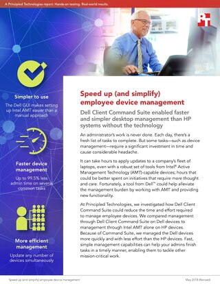 Principled Technologies Report: Speed up (and simplify) employee device management
