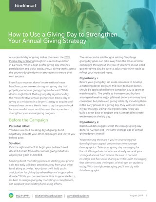White Paper: Using Giving Days to Strengthen Annual Giving