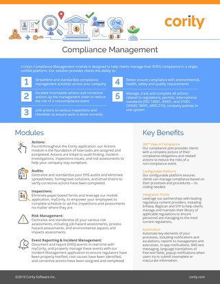 One pager - Compliance management