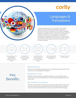 One Pager - Languages And Translations