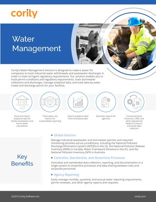 One Pager - Water Management