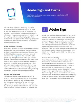 Solution Brief | Icertis Integration for Adobe Sign