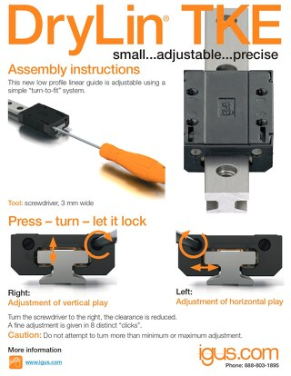 drylin® TKE Assembly Instructions