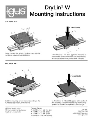 drylin® W Mounting Instructions