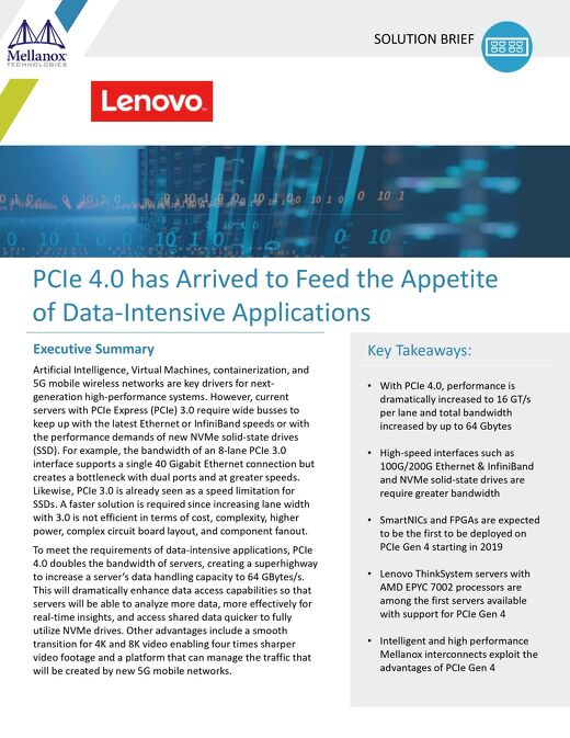 PCIe 4.0 has Arrived to Feed the Appetite of Data-Intensive Applications