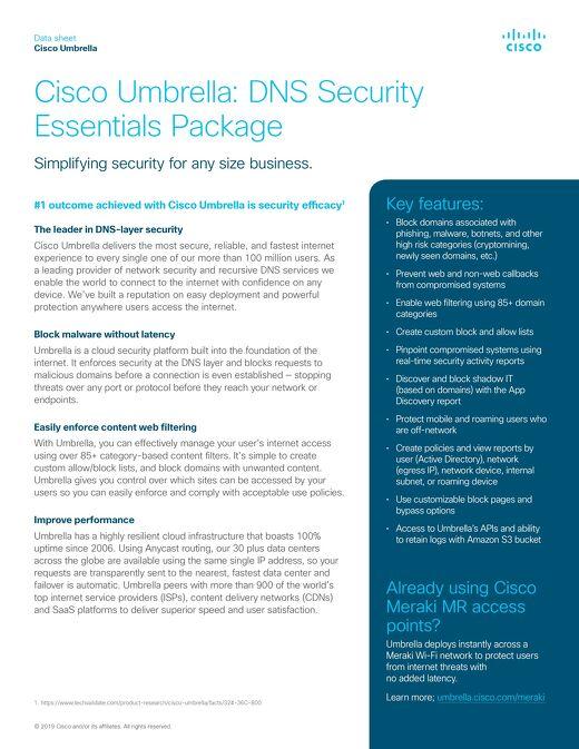 Cisco Umbrella DNS Essentials