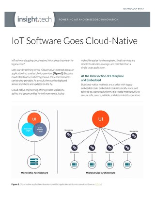 IoT Software Goes Cloud-Native