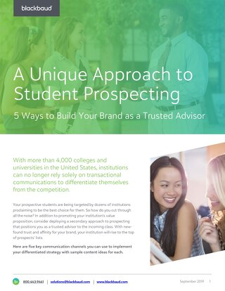 Guide: A Unique Approach to Student Prospecting