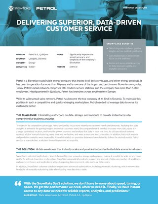 Petrol: Delivering Superior, Data-Driven Customer Service