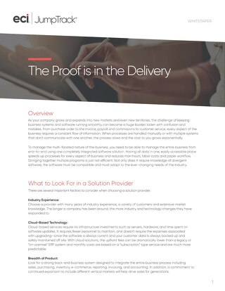JumpTrack: The Proof is in the Delivery