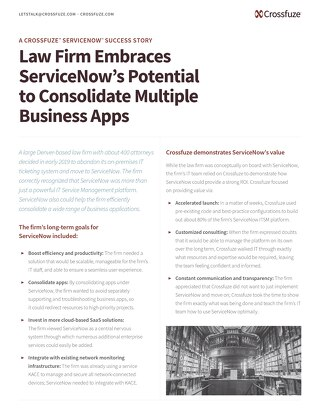 Success Story: Law Firm Embraces SaaS Solution for App Consolidation