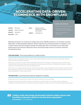 Westwing: Accelerating Data-Driven Ecommerce with Snowflake