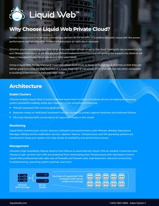 Why Choose Liquid Web Private Cloud