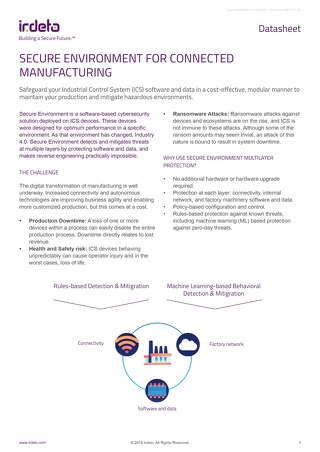 Datasheet: Secure Environment for Connected Manufacturing