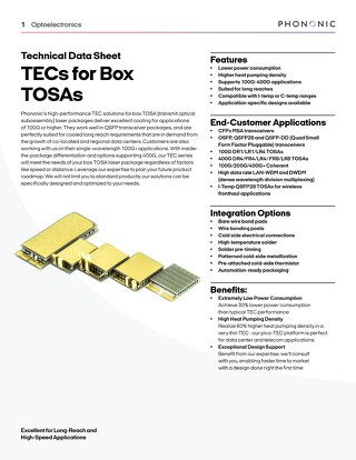 TECs for Box TOSAs