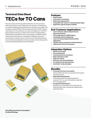TECs for TO Cans