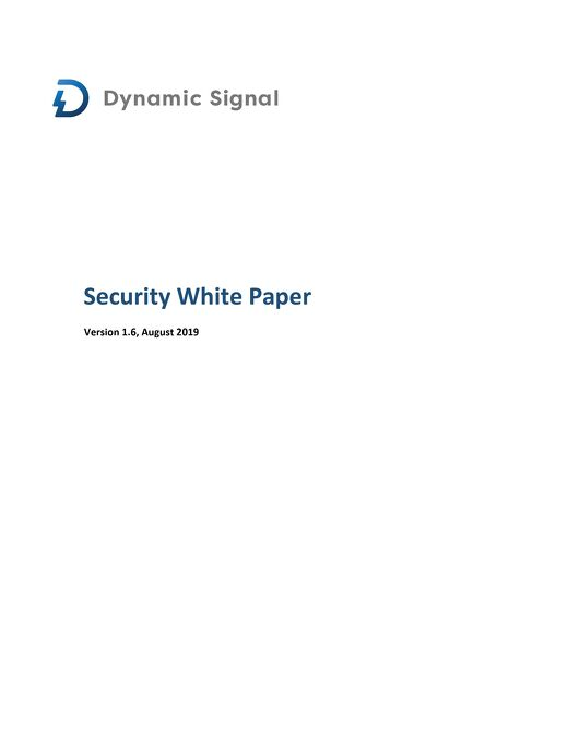 security-white-paper-august-09