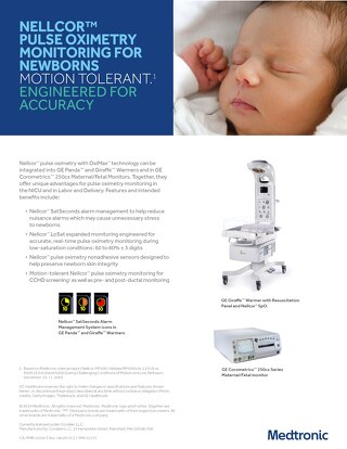 NELLCOR PULSE OXIMETRY MONITORING FOR NEWBORNS