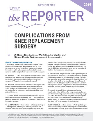 Reporter 2019 Orthopedics