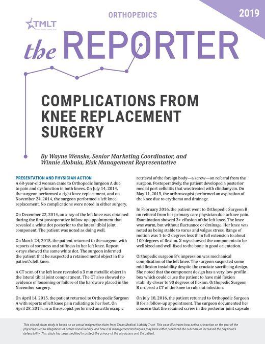 Reporter 2019 Orthopedics
