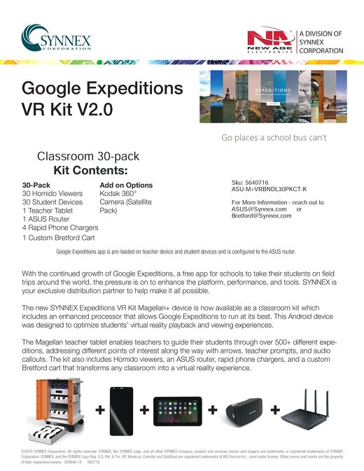 VR Kit with Bretford, Magellan, Homido and ASUS