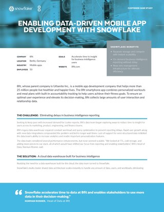 8Fit: Enabling Data-Driven Mobile App Development with Snowflake
