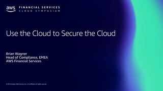 Using the cloud to automate security and compliance