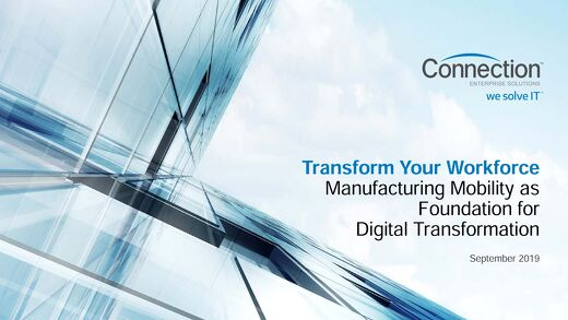 Connection Enterprise Manufacturing Mobility Webinar